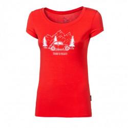 triko krátké dámské Progress LIBERTA BEETLE červené
