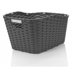 koš na nosič XLC Carry more polyratanový černý