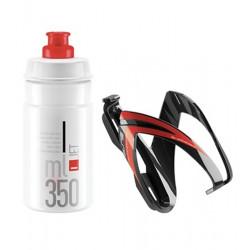 lahev ELITE Jet  350 ml+ košík Kit Ceo černá/červená