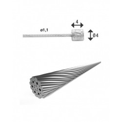 Lanko řadící XLC 1,1/4000mm + 2x nipl